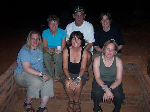 The volunteers 2005 with Linda. Becky, Margaret, Terry, Olivia and Helen.